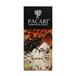 Pacari Organic Raw with Salt & Nibs 70%
