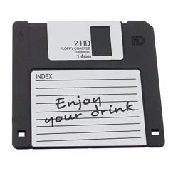 Sottobicchiere Floppy Disk In Gomma Cm 12×12