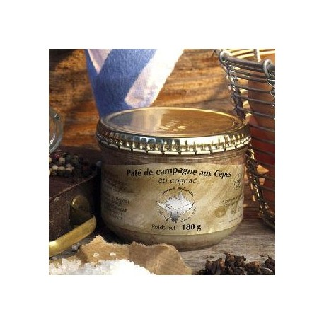 Patè di campagna ai funghi porcini al cognac - Conserverie du Manoire