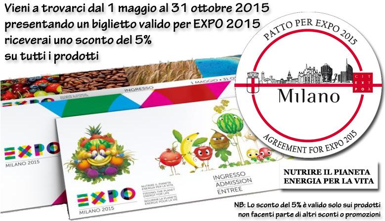 4SENSI per EXPO 2015 - Patto per EXPO - Sconto 5%