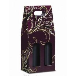Confezione di cartone per 2 bottiglie - Vinaccia/Oro