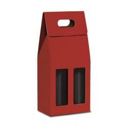 Confezione di cartone per 2 bottiglie - Rossa