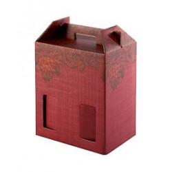 Confezione di cartone per 6 bottiglie - Rosso/Grappolo