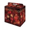 Confezione per Panettone 1kg e 1 Bottiglia - Buon Natale