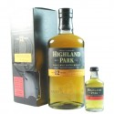 Confezione Highland Park 12 Years + Mignon 5cl Highland Park 18 Years
