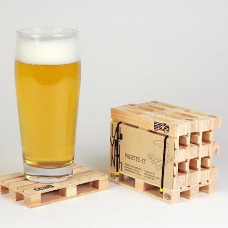 Sottobicchieri Pallets in legno cm 12x8x1,7