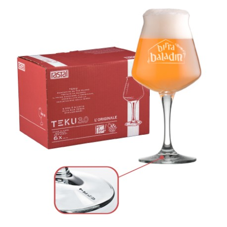 Confezione da 6 bicchieri teku 3 0 a marchio baladin for Bicchieri birra prezzi
