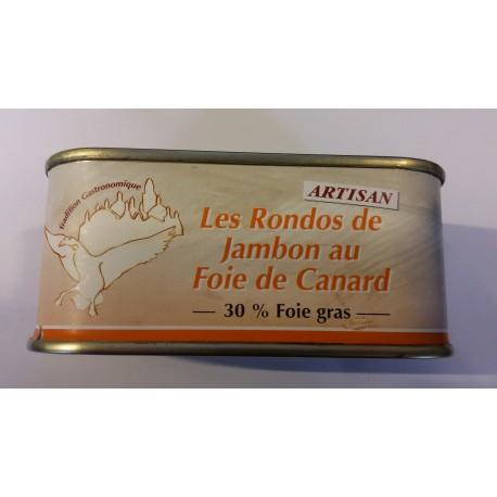 Rondos di prosciutto al Foie Gras di Anatra (30%) - Conserverie du Manoire 200gr
