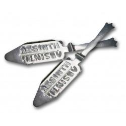 Set di 2 Cucchiai per Assenzio con scritta Absinth
