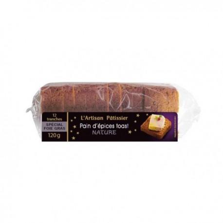 Pain d'épices toast Nature 120 gr (ideale per il Foie Gras)