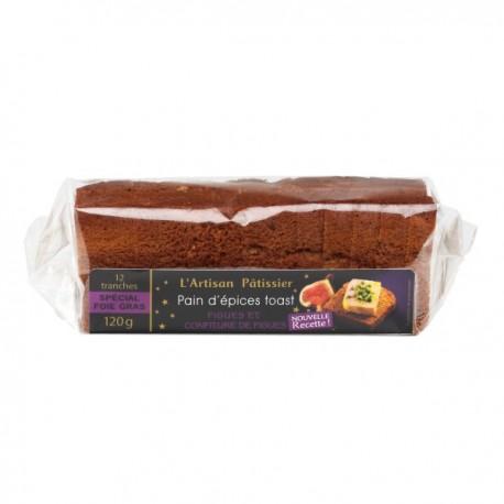 Pain d'épices toast Nature 120 gr (ideale per il Foie Gras) - France Cake Tradition