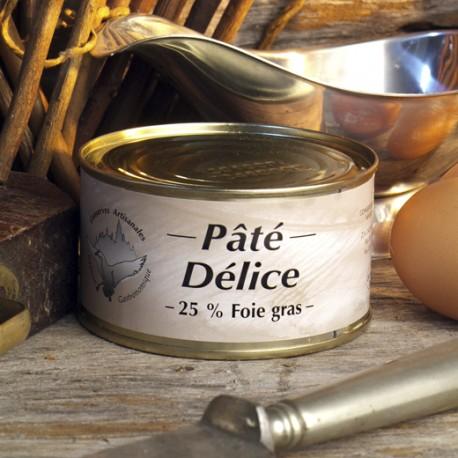 Patè di fegato di anatra Delice (25% di foie gras) - Conserverie du Manoire 130gr