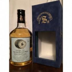 Caol Ila Distillery Signatory Vintage 1981 20yo in cofanetto di velluto blu 70cl
