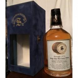 Caol Ila Distillery Signatory Vintage 1974 23yo in cofanetto di velluto blu 70cl