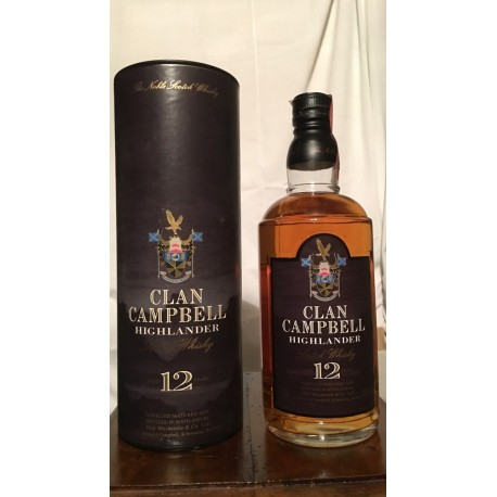 Clan Campbell Highlander 70cl con astuccio (tubo) old bottle