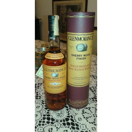 Glenmorangie Sherry Wood Finish Old Bottle con astuccio (tubo) 70cl