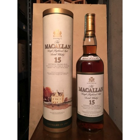 Macallan 15yo distilled in 1984 con tubo 70cl (Giovinetti)