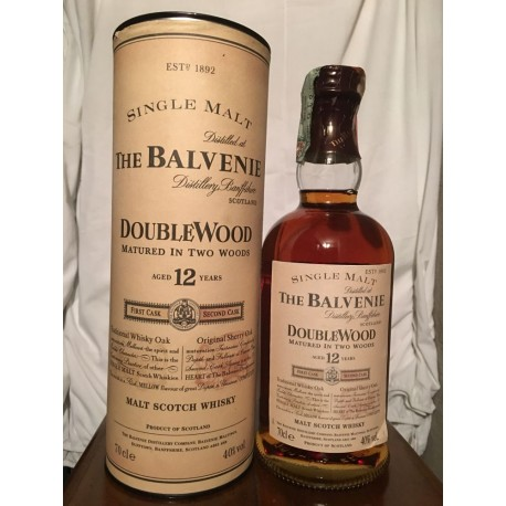 The Balvenie 12yo DoubleWood con astuccio (tubo) 70cl old bottle