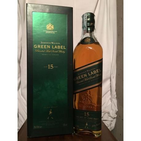 Johnnie Walker Green Label 15yo old bottle con astuccio 70cl