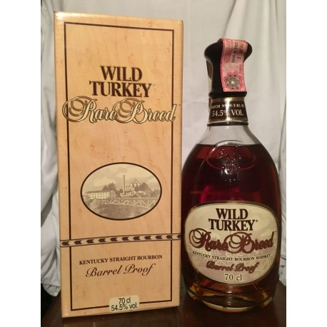 Wild Turkey Rare Breed Barrel Proof con astuccio 70cl old bottle