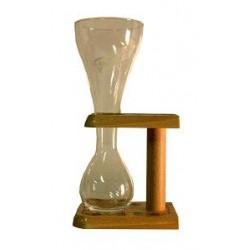 Kwak bicchiere con supporto in legno 0.33cl